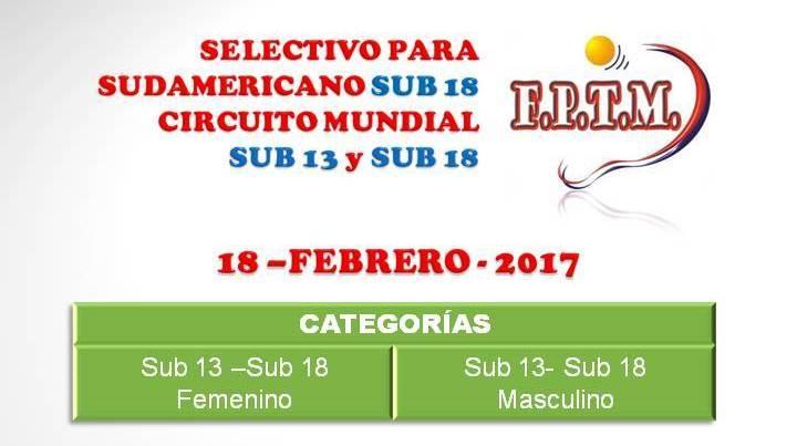 AFICHE SELECTIVO SUB 13-18 2017