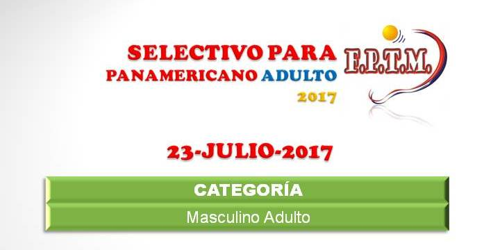 AFICHE SELECTIVO PANAMERICANO ADULTO 2017