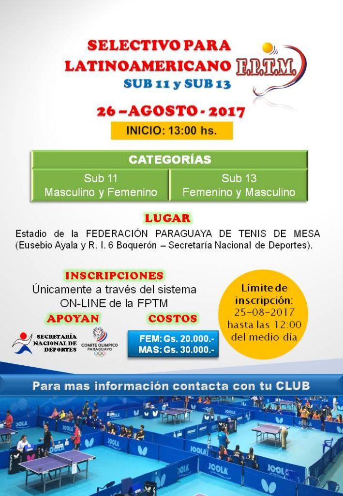 AFICHE SELECTIVO latino SUB 11-13 2017 (2)