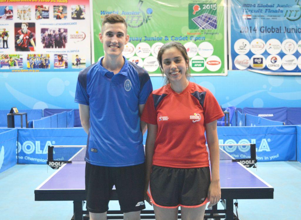 Fabrizio González (Politécnica) y Fátima Martínez (Fiuna) Campeones Individuales