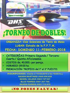 AFICHE Torneo de dobles 2018